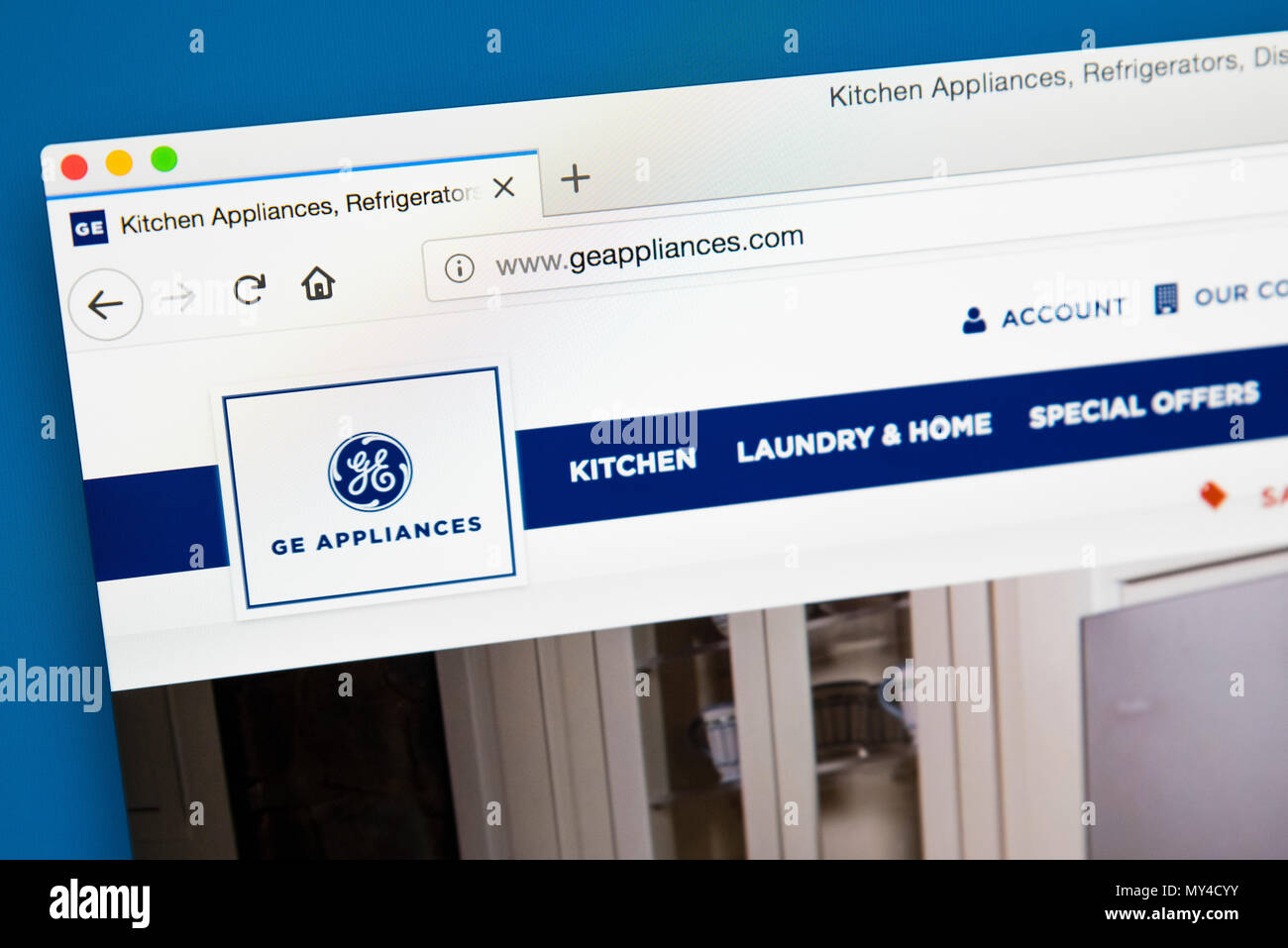 LONDON, UK - MAY 29TH 2018: The homepage of the official website for on westinghouse kitchen appliances, amana kitchen appliances, scotsman kitchen appliances, daewoo kitchen appliances, kelvinator kitchen appliances, sylvania kitchen appliances, electrolux kitchen appliances, jenn-air kitchen appliances, thermador kitchen appliances, roper kitchen appliances, samsung kitchen appliances, mitsubishi kitchen appliances, fujitsu kitchen appliances, sharp kitchen appliances, general electric kitchen appliances, liebherr kitchen appliances, sunbeam kitchen appliances, emerson kitchen appliances, kitchenaid kitchen appliances, frigidaire kitchen appliances,