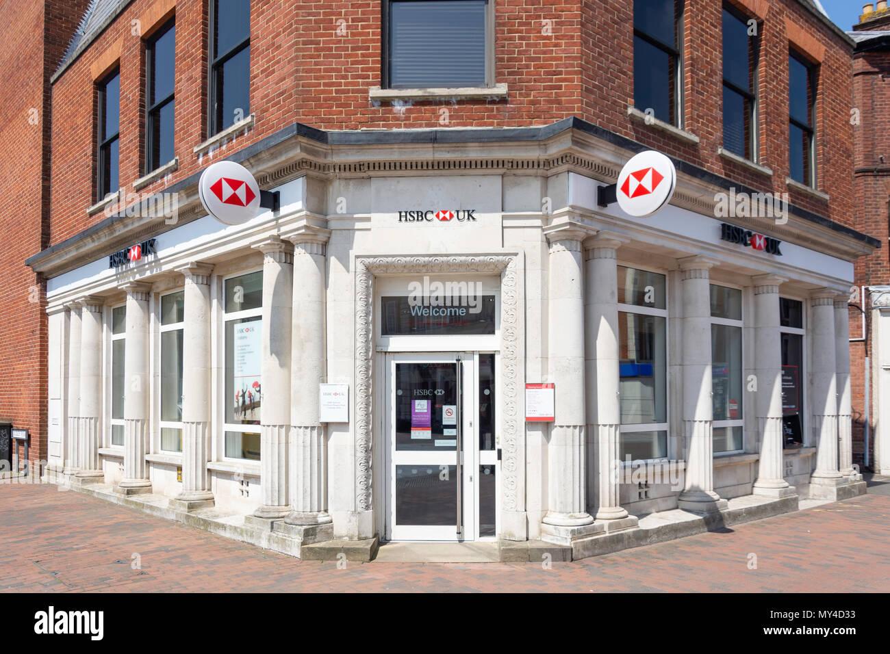 HSBC Bank, Mount Pleasant Road, Royal Tunbridge Wells, Kent, England, United Kingdom - Stock Image
