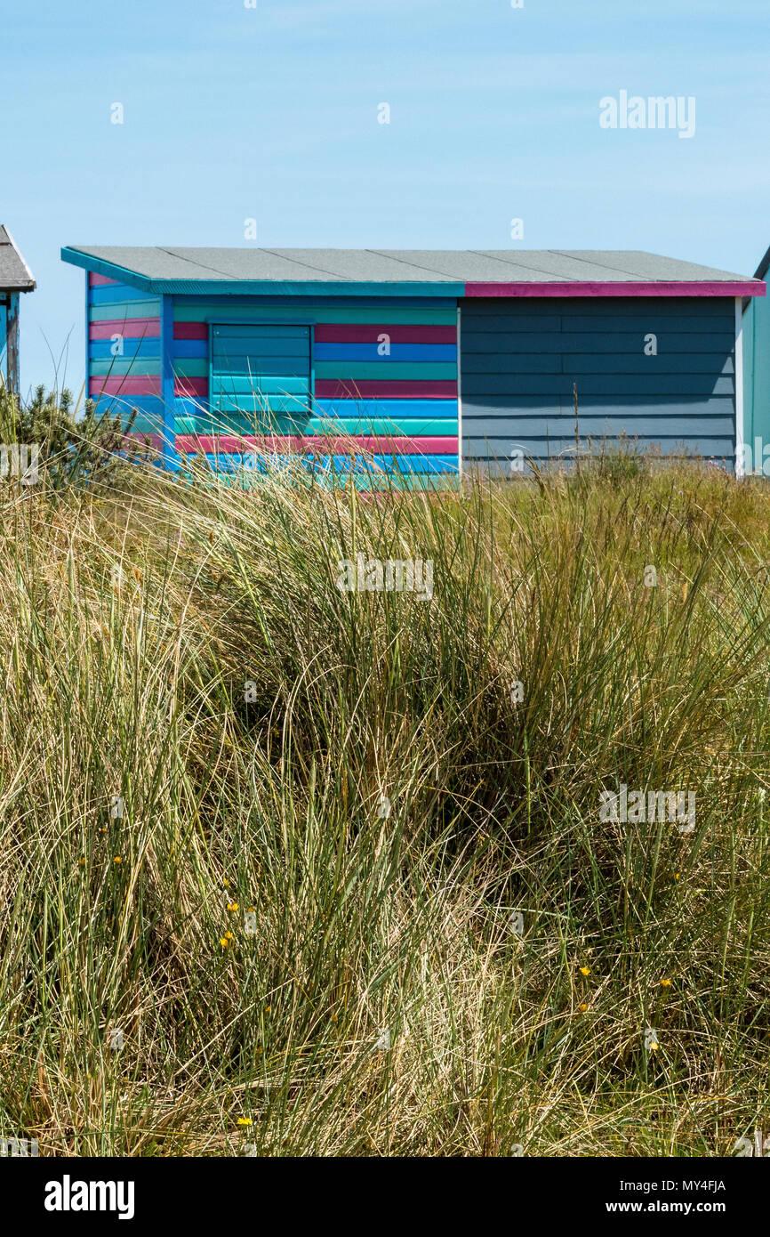 beach hut, bembridge, isle of wight. - Stock Image