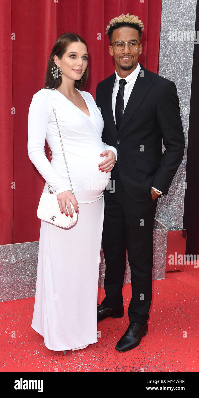 Photo Must Be Credited ©Alpha Press 079965 02/06/2018 Helen Flanagan and Scott Sinclair at The British Soap Awards 2018 held at the Hackney Empire in London - Stock Image