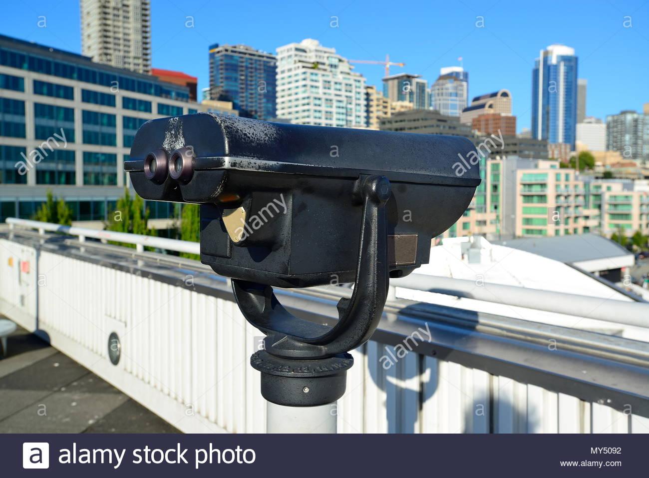 City Binocular - Stock Image