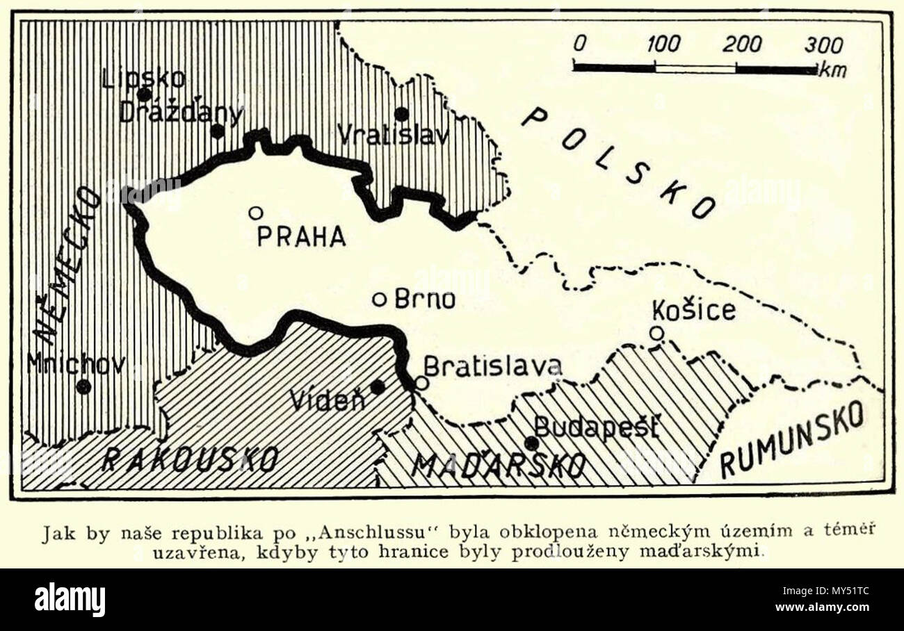 Map Of Germany And Czechoslovakia.Map Of Borders Between Interwar Czechoslovakia And Interwar Germany