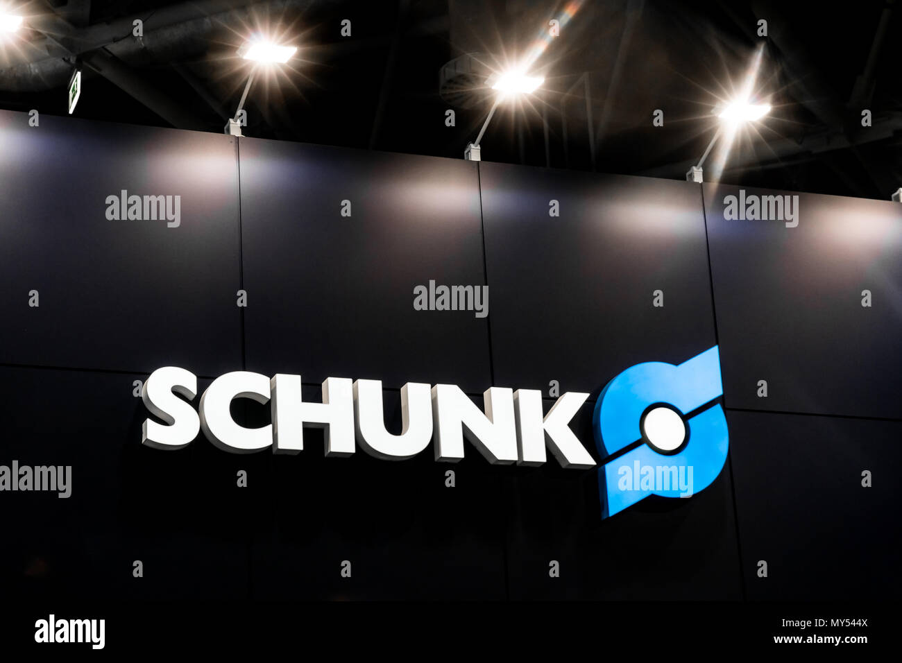 Schunk logo sign on the wall - Stock Image