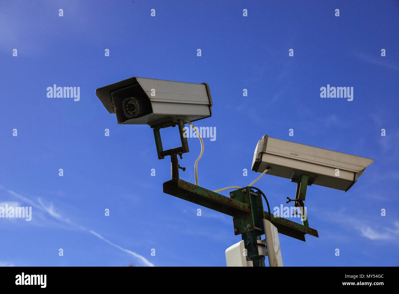 security camera and urban video - Stock Image