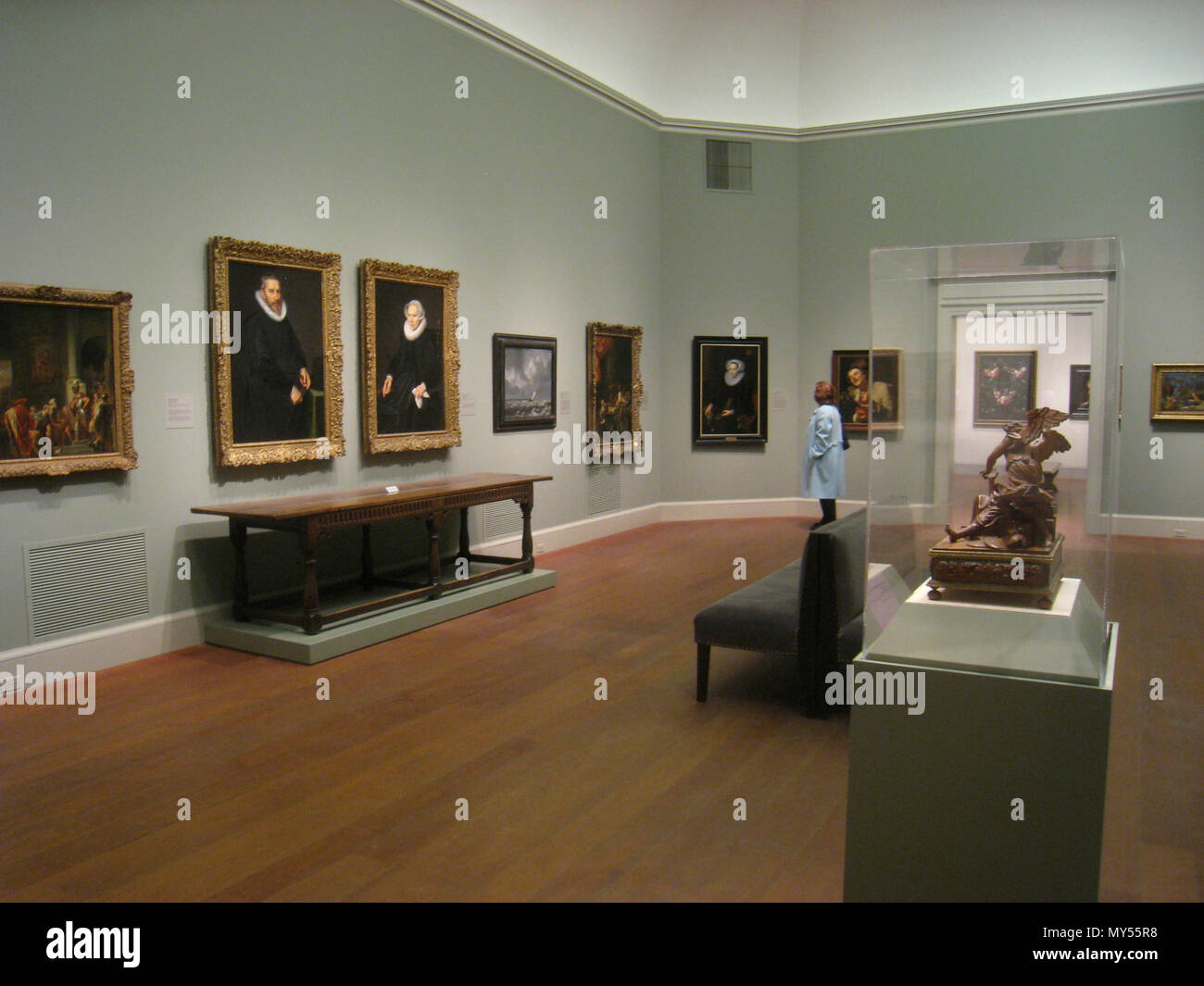 Interior View Of The Worcester Art Museum Worcester Massachusetts Usa The