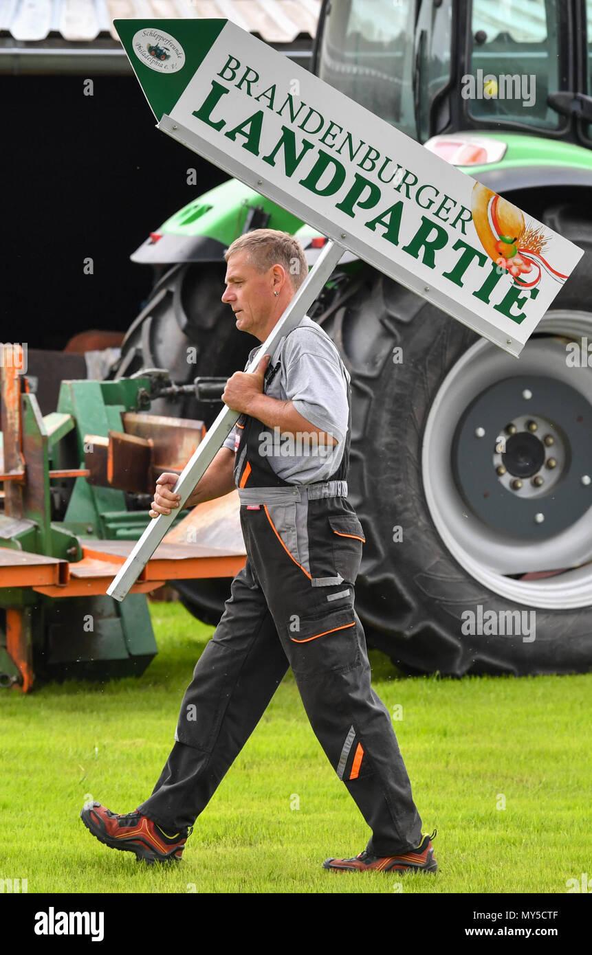 05 june 2018 germany philadelphia tractor fan ralf wittke