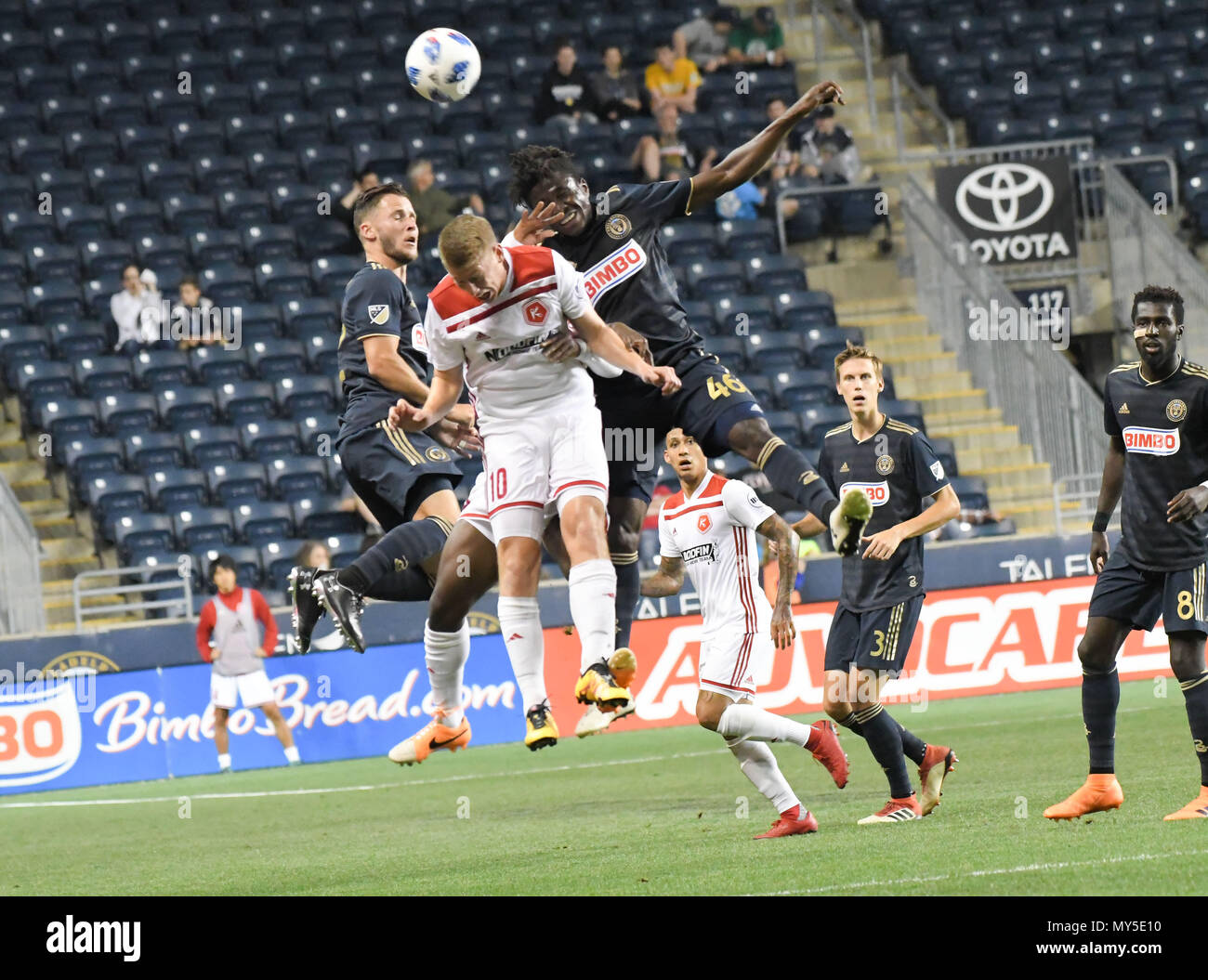 Chester, Pennsylvania, USA. 5th June, 2018. Philadelphia Union and the Richmond Kickers in action during the match at Talen Energy Stadium, Chester PA Credit: Ricky Fitchett/ZUMA Wire/Alamy Live News Stock Photo