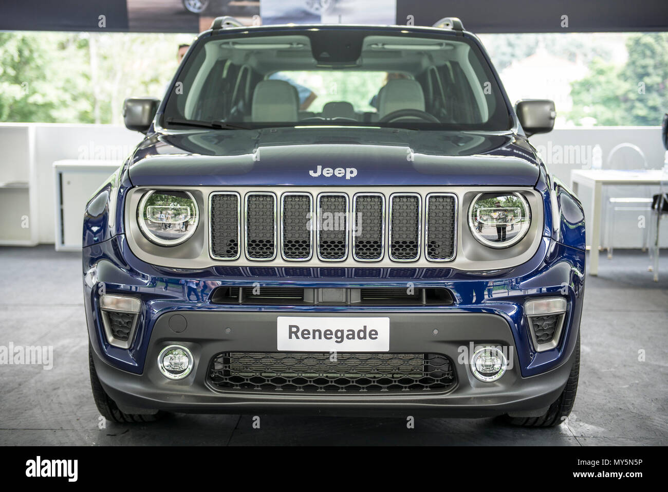 Turin, Piedmont, Italy. 6th June, 2018. Turin, Italy-June 06, 2018: Jeep Renagade in Turin Motor Show 2018 Credit: Stefano Guidi/ZUMA Wire/Alamy Live News Stock Photo
