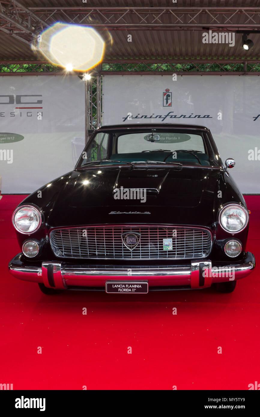 Torino Italy Th June The Prototype Car Lancia Flaminia - Florida classic 2018 car show