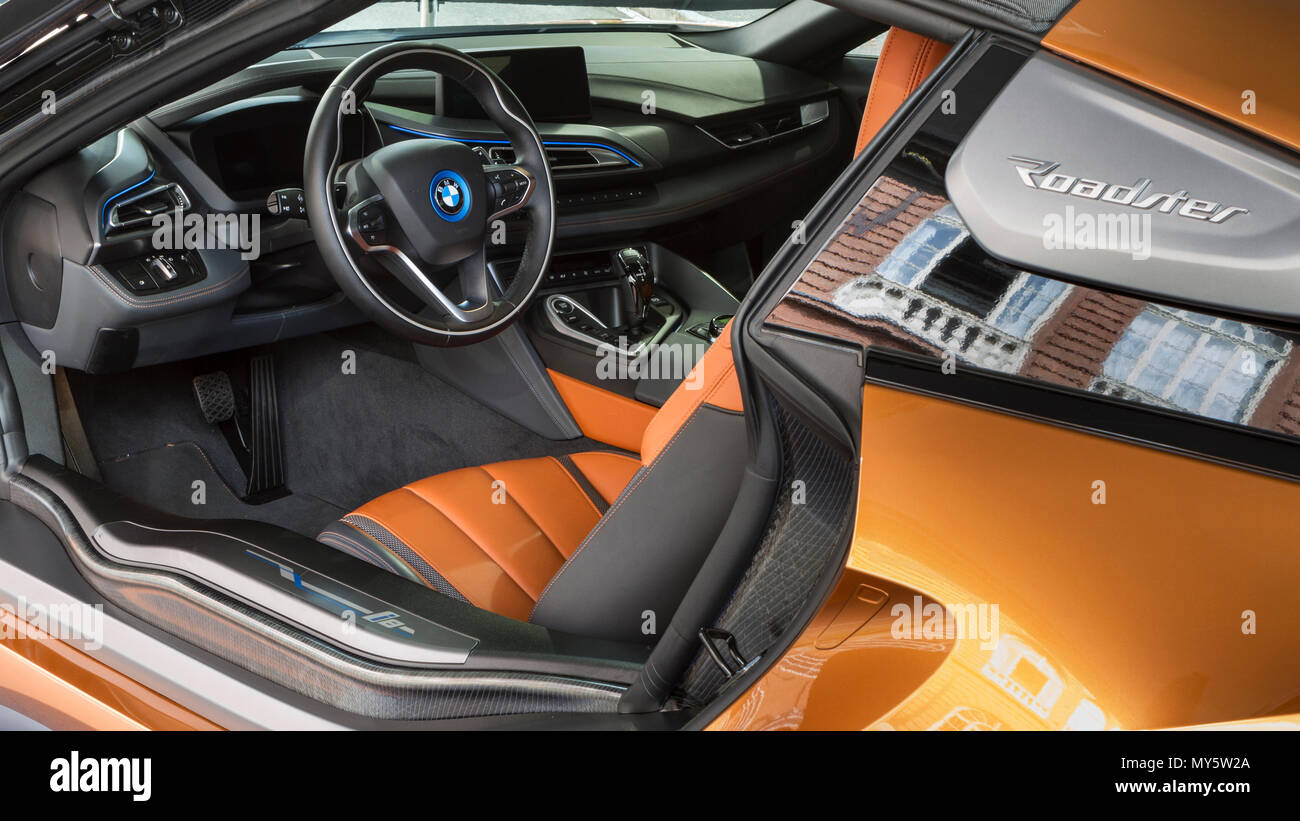 Torino Italy 6th June 2018 Dashboard And Steering Wheel Of Hybrid