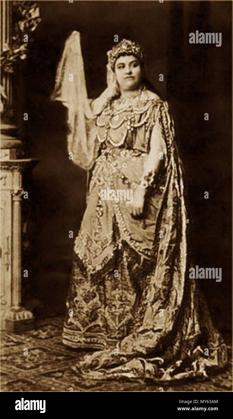 . English: Soprano Amalie Materna as the Queen of Saba in Goldmark's Die Königin von Saba, probably Vienna 1875. circa 1875. Unknown 36 Amalie Materna as Queen of Saba - IL2 Stock Photo