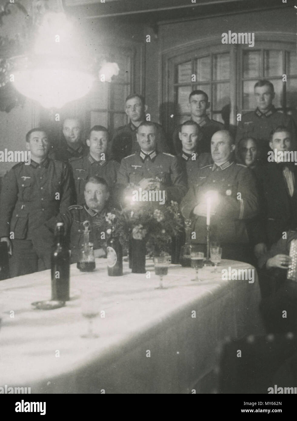 Duitse soldaten en officieren. Datum en locatie onbekend. Waarschijnlijk in Alkmaar. - Stock Image