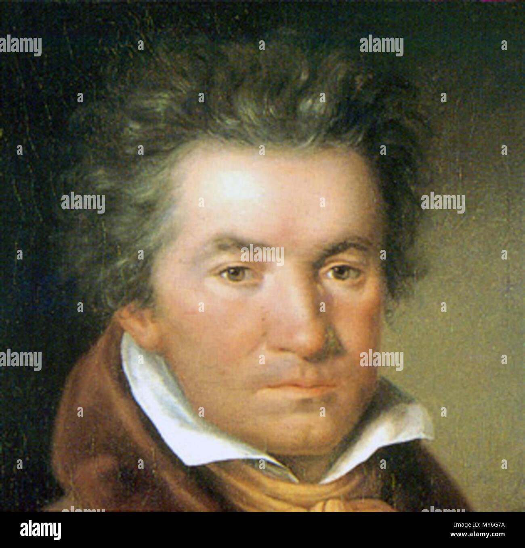 . English: Detail of a portrait of Ludwig van Beethoven Français: Détail d'un portrait de Ludwig van Beethoven . 1815. Mähler, Willibrord Joseph (1778–1860) 68 Beethoven 4 - Stock Image