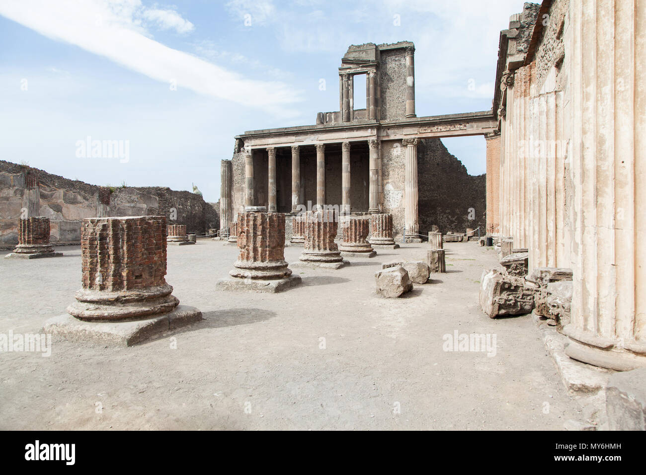 Ausgrabungsstätte Pompeji Neapel Vesuv Stock Photo