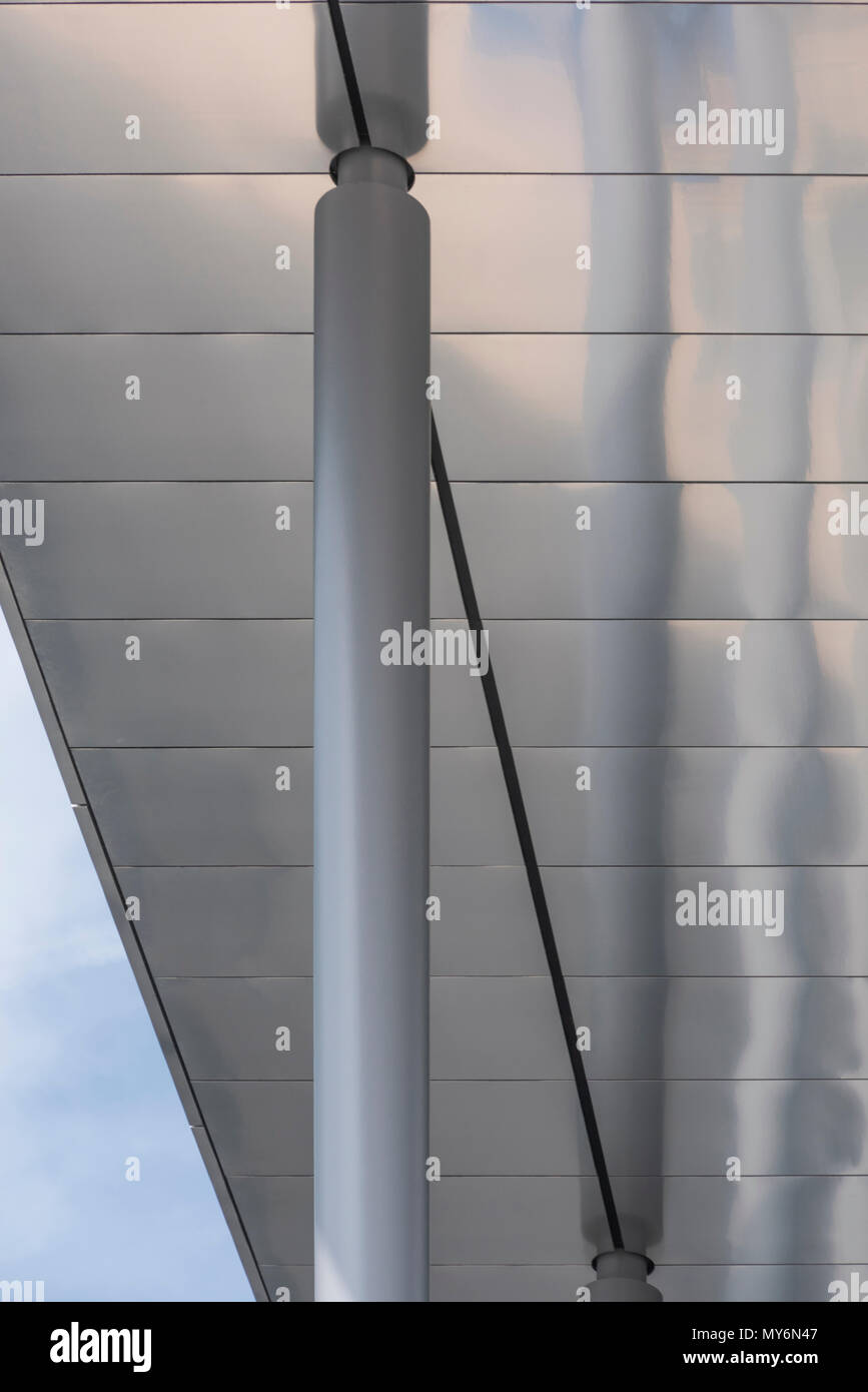 Details of the new BBC Wales Headquarters by The British architects Foster + Partners. PHILLIP ROBERTS - Stock Image