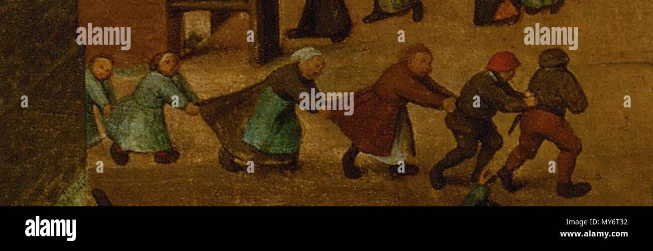 . English: Pieter Bruegel The Children's games: detail Nederlands: Pieter Bruegel De kinderspelen: detail hek Deutsch: Die Kinderspiele, Detail . 15 April 2013, 16:51:42. Pieter Breughel de Oude 422 Pieter Breughel de Oude nalopertje Stock Photo