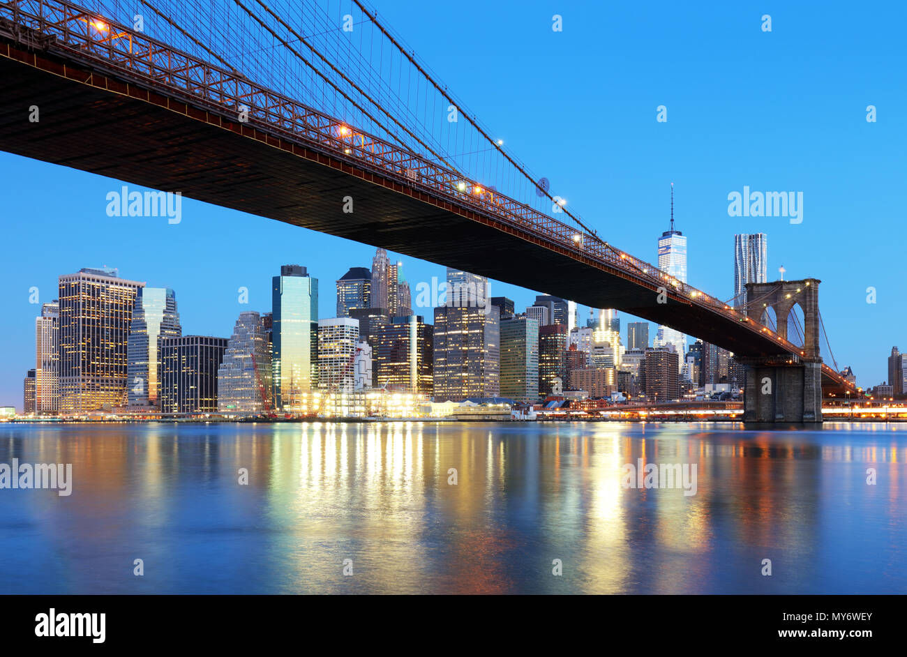 New York City skyline, USA - Stock Image