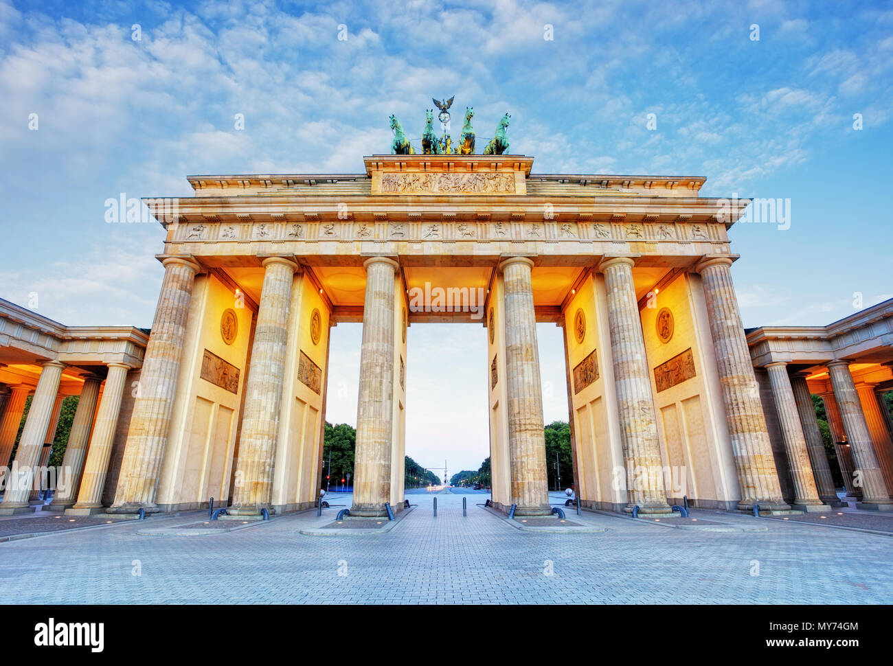 Brandenburg in Berlin, capital of Germany - Stock Image