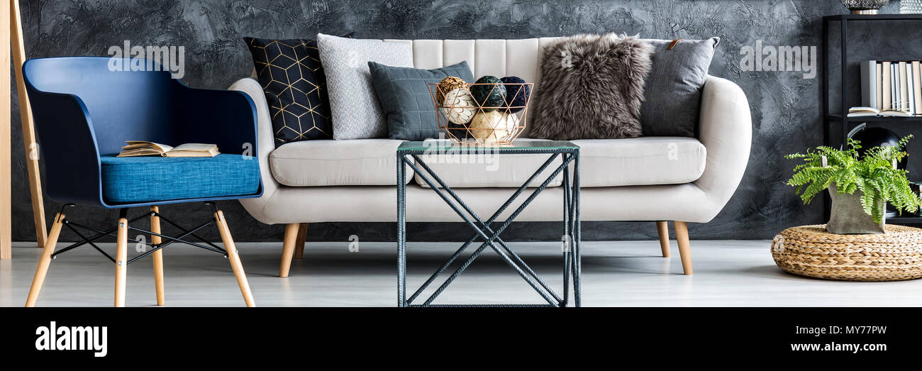 Astonishing Light Grey Sofa With Decorative Pillows Standing In Dark Dailytribune Chair Design For Home Dailytribuneorg