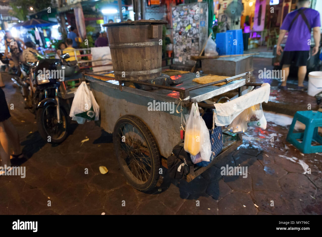 View of a stall attachment arranged in a messy way. - Stock Image