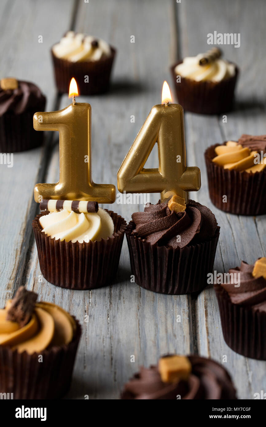 Happy 14th Birthday Cake Stock Photos Happy 14th Birthday Cake