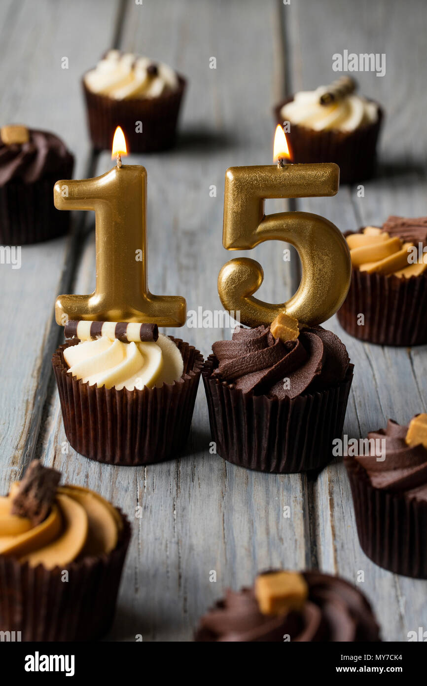 Pleasing Chocolate Cake 15Th Birthday Stock Photos Chocolate Cake 15Th Birthday Cards Printable Riciscafe Filternl