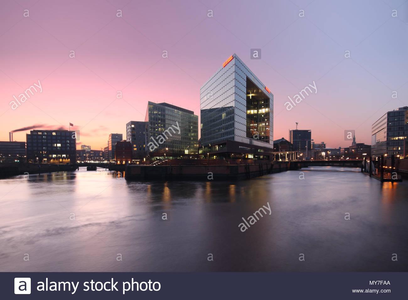 Headquarters of Der Spiegel, Hamburg, Germany - Stock Image