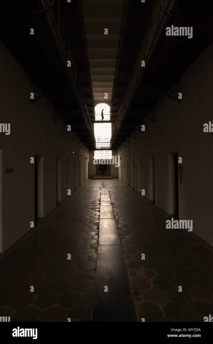 Sighet prison, now a museum in Romania, functioned as a prison for political dissidents, a place of extermination for the country's elites and at the  - Stock Image