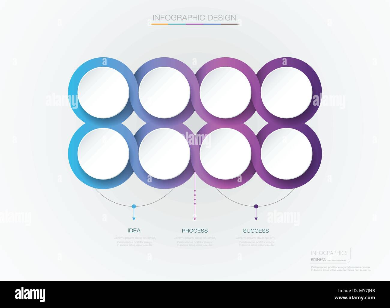 vector infographic 3d circle label template design infograph with 8