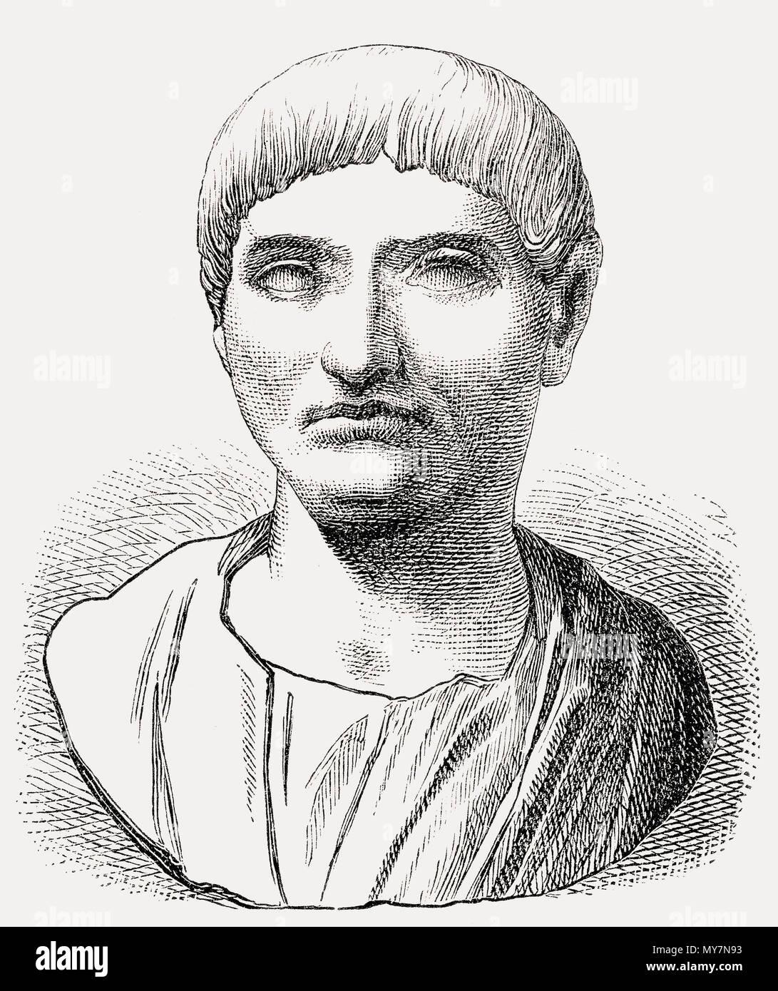 Gaius Sallustius Crispus, or Sallust, 86 – c. 35 BC, a Roman historian, politician - Stock Image