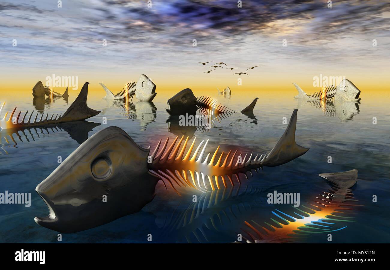Radioactive Fish - Stock Image