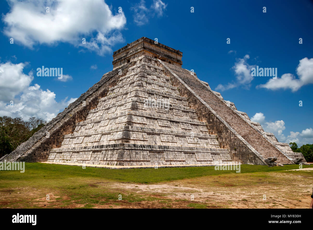 Two walls of the pyramid Stock Photo