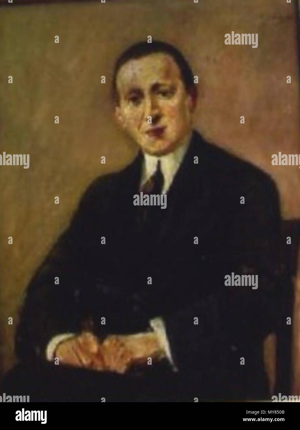 .  Deutsch: Porträt des David Leder von Max Liebermann (ca. vor 1915) . circa 1915 133 David Leder by Max Liebermann - Stock Image