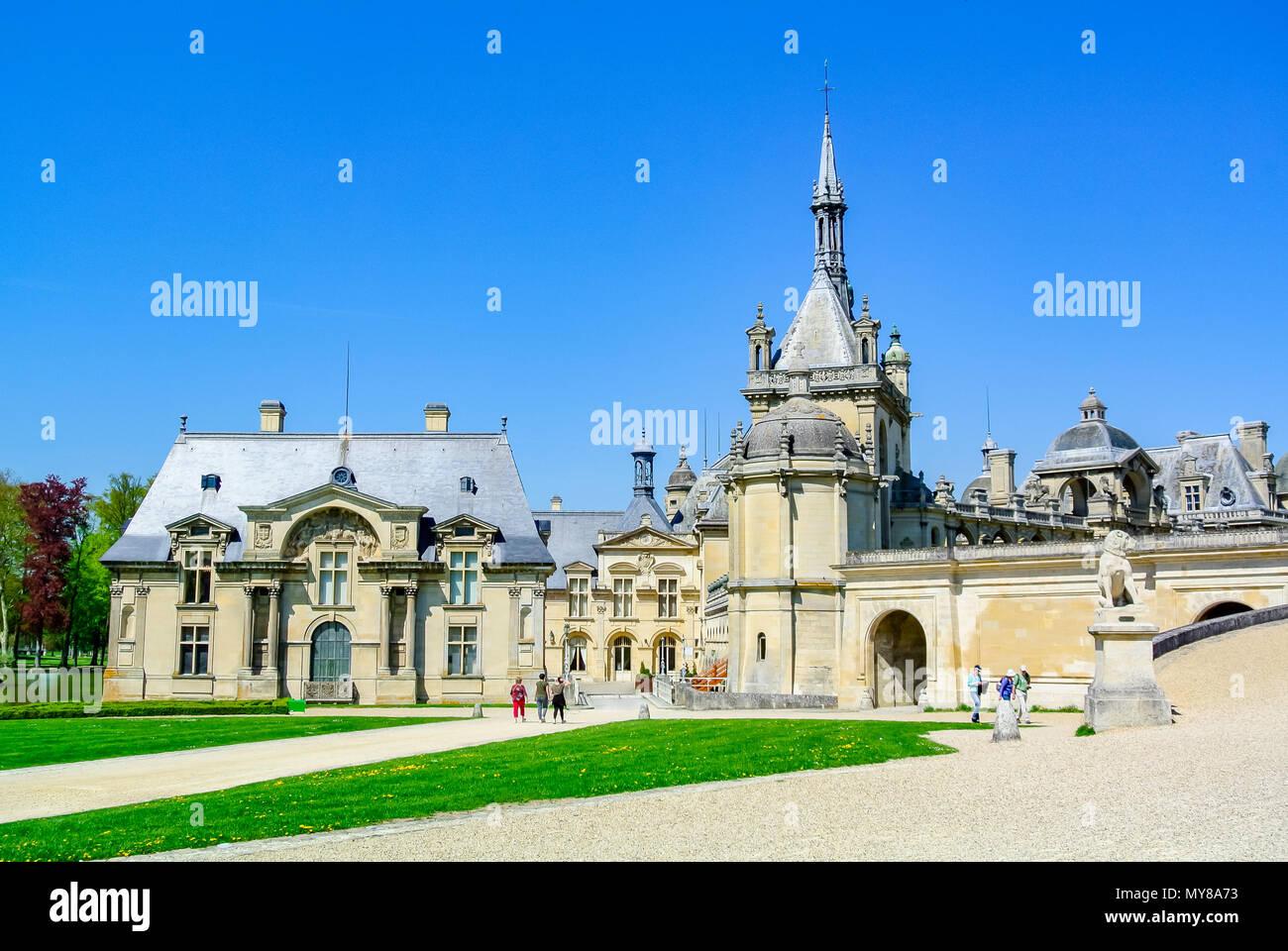 Chantilly Castle (Chateau de Chantilly), Oise, France - Stock Image