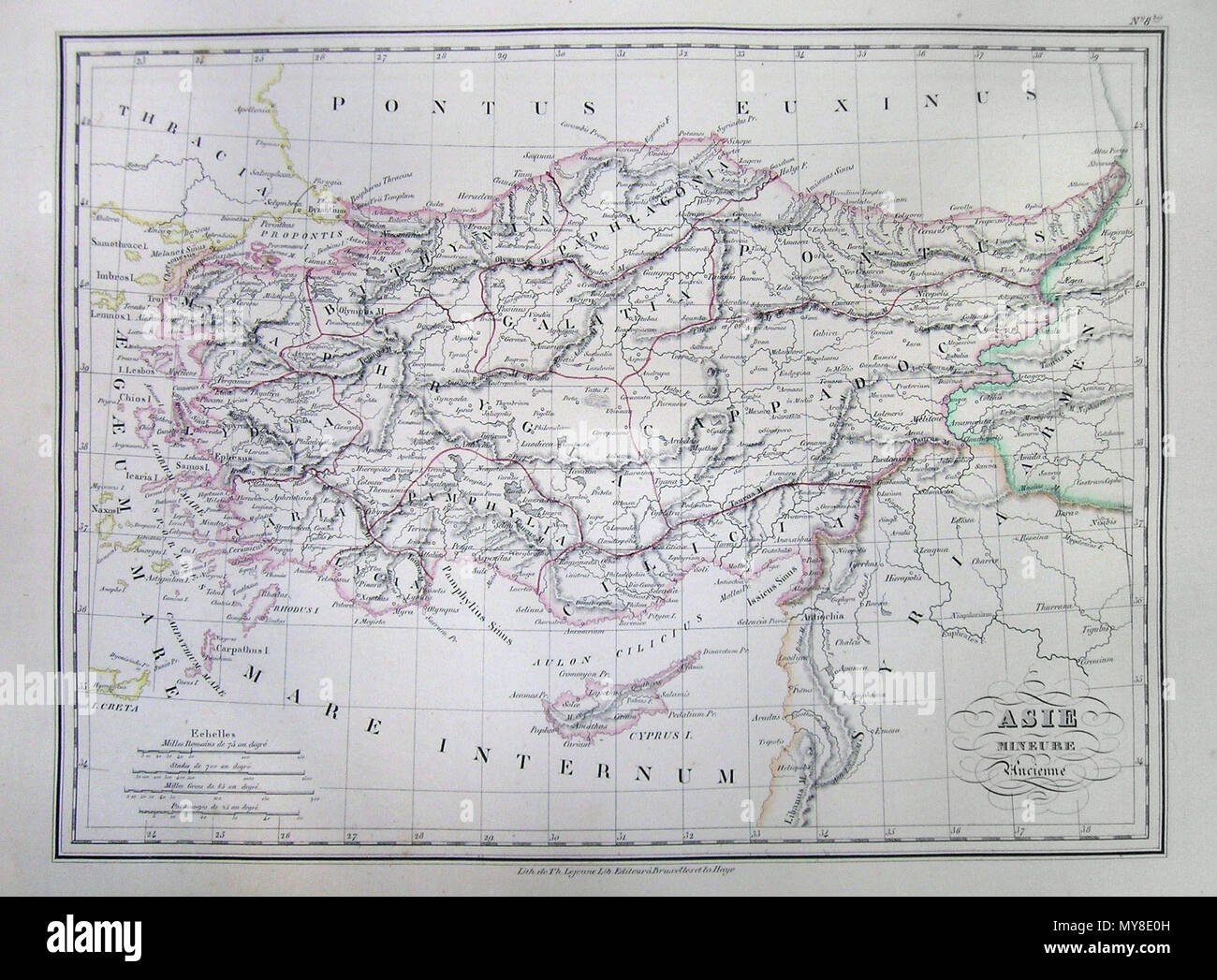 Map Of Asia Over Time.Malte Brun Map Of Asia In Ancient Times Stock Photos Malte Brun