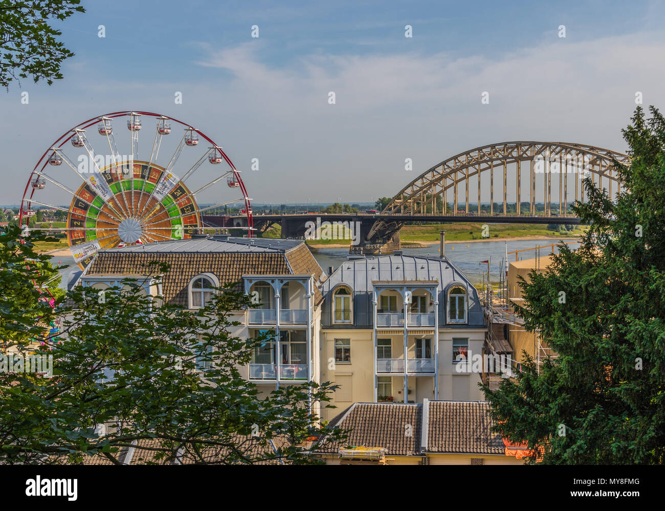 Nijmegen, Netherlands - the oldest city in the country, here is celebrated the Four Days Marches every year - Stock Image