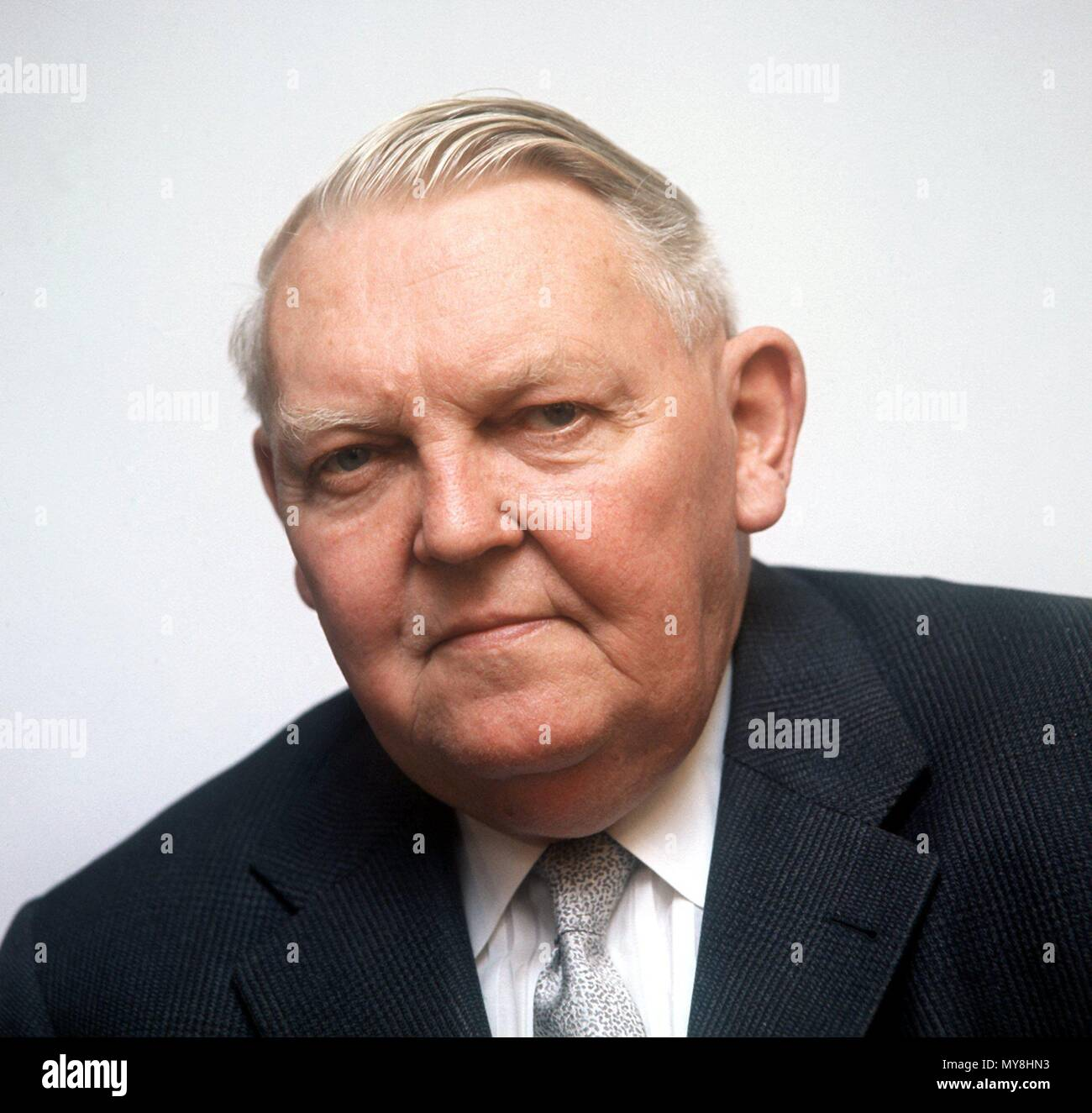 Professor Ludwig Erhard, the 'father of the German economic miracle', undated.  | usage worldwide - Stock Image