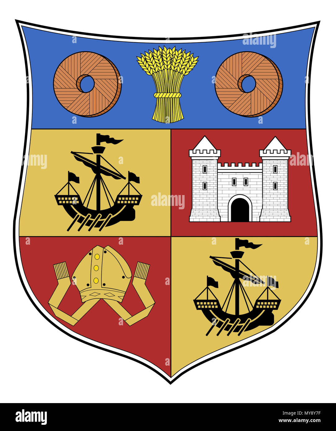 . Coat of Arms of Partick, Glasgow, Scotland. 1872. Unknown 409 Partick COA - Stock Image