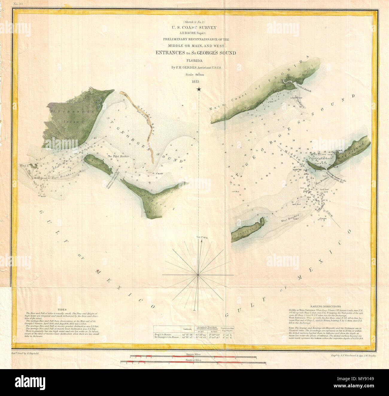 Map Of Western Florida.Sketch G No 2 Preliminary Reconnaissance Of The Middle Or Main