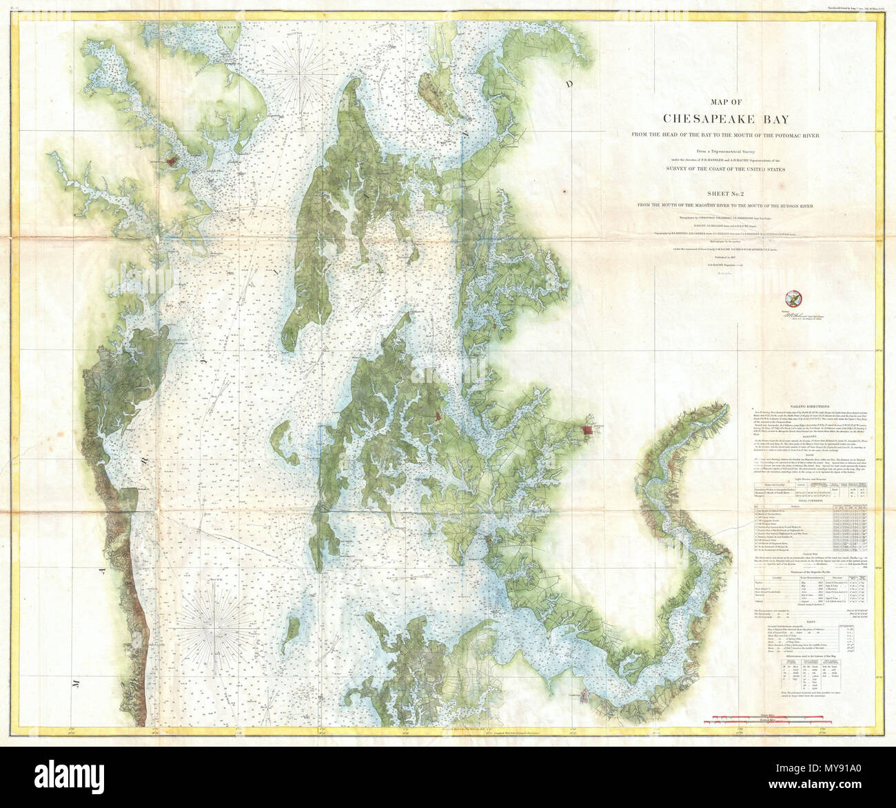 Map Of Chesapeake Bay Stock Photos & Map Of Chesapeake Bay Stock ...