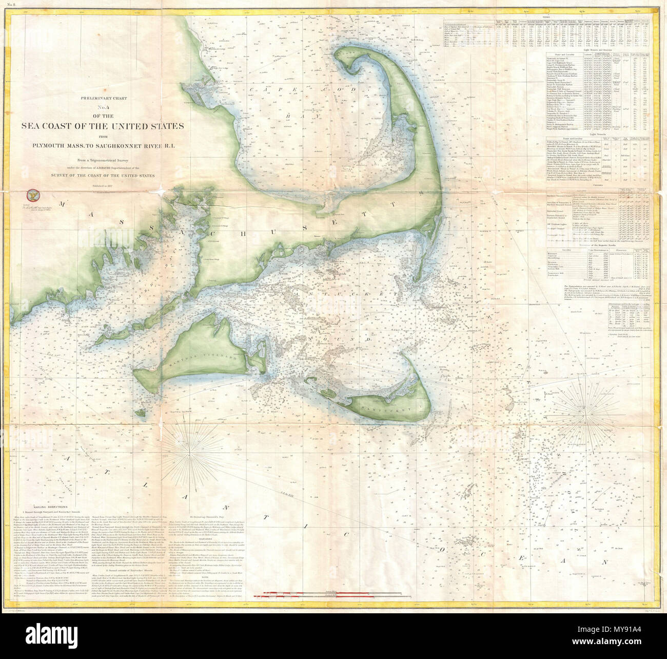 Preliminary Chart No 4 Of The Sea Coast Of The United States From