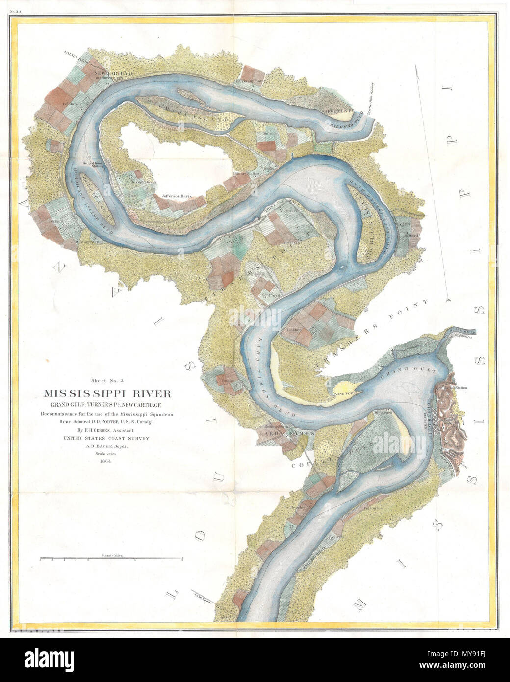 Mississippi River Grand Gulf, Turner\'s Point, New Carthage ...