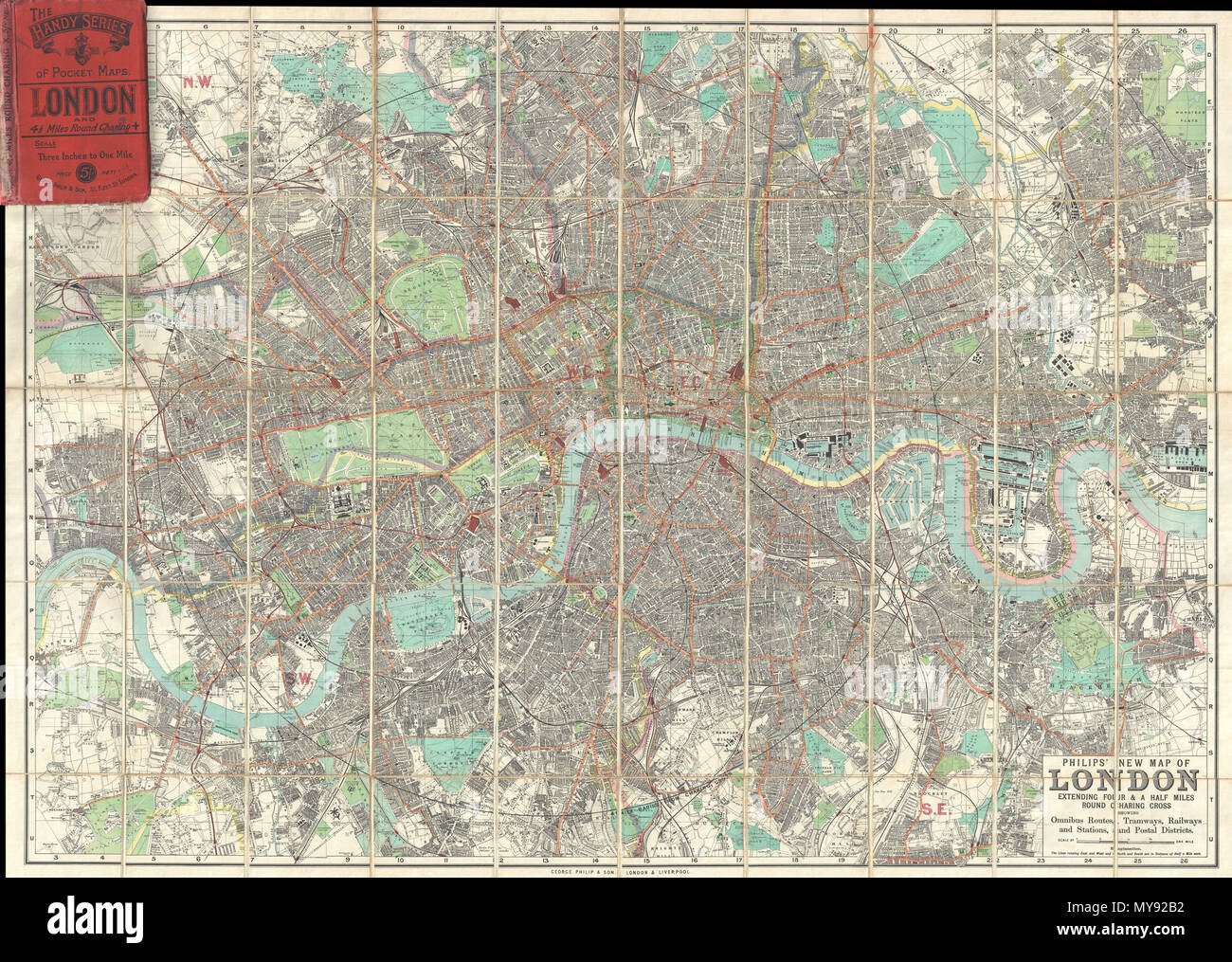 Map Of North London Uk.Philips New Map Of London Extending Four A Half Miles Round