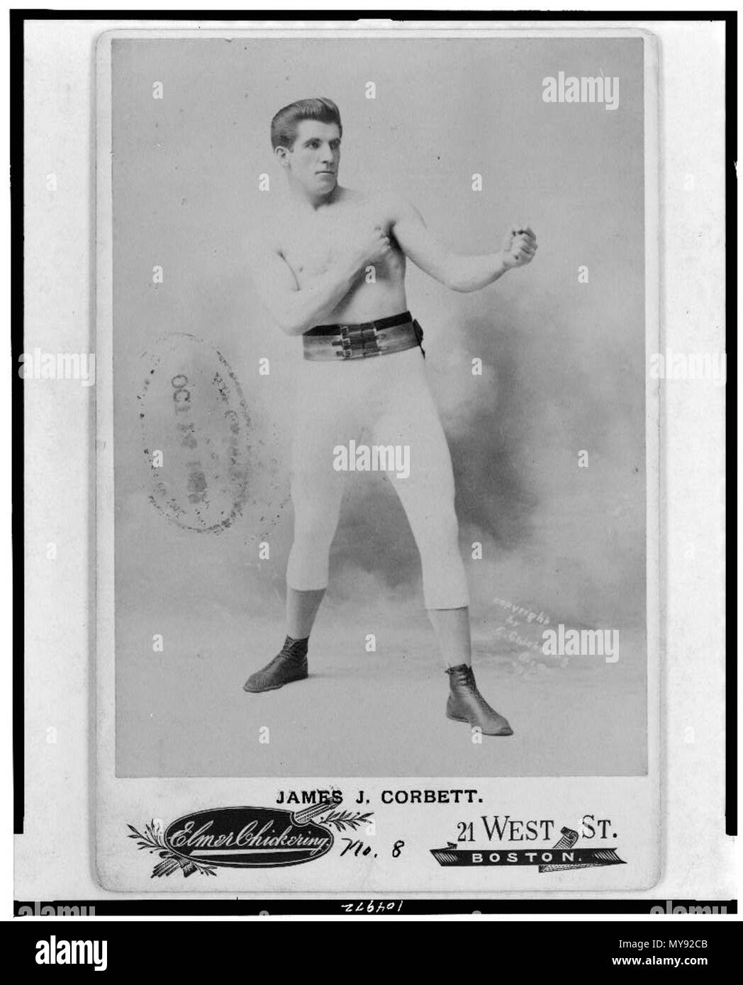 . Photo by Elmer Chickering . 1897. Chickering 10 1897 JamesJCorbett byElmerChickering LibraryOfCongress - Stock Image