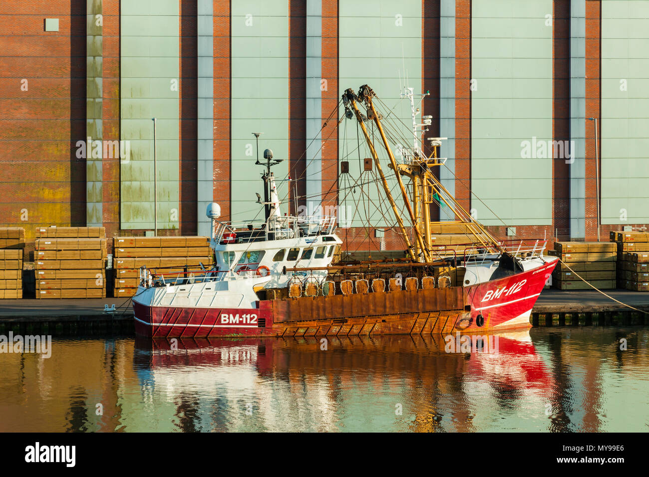 Rusty ship at Shoreham Port, West Sussex, England. Stock Photo