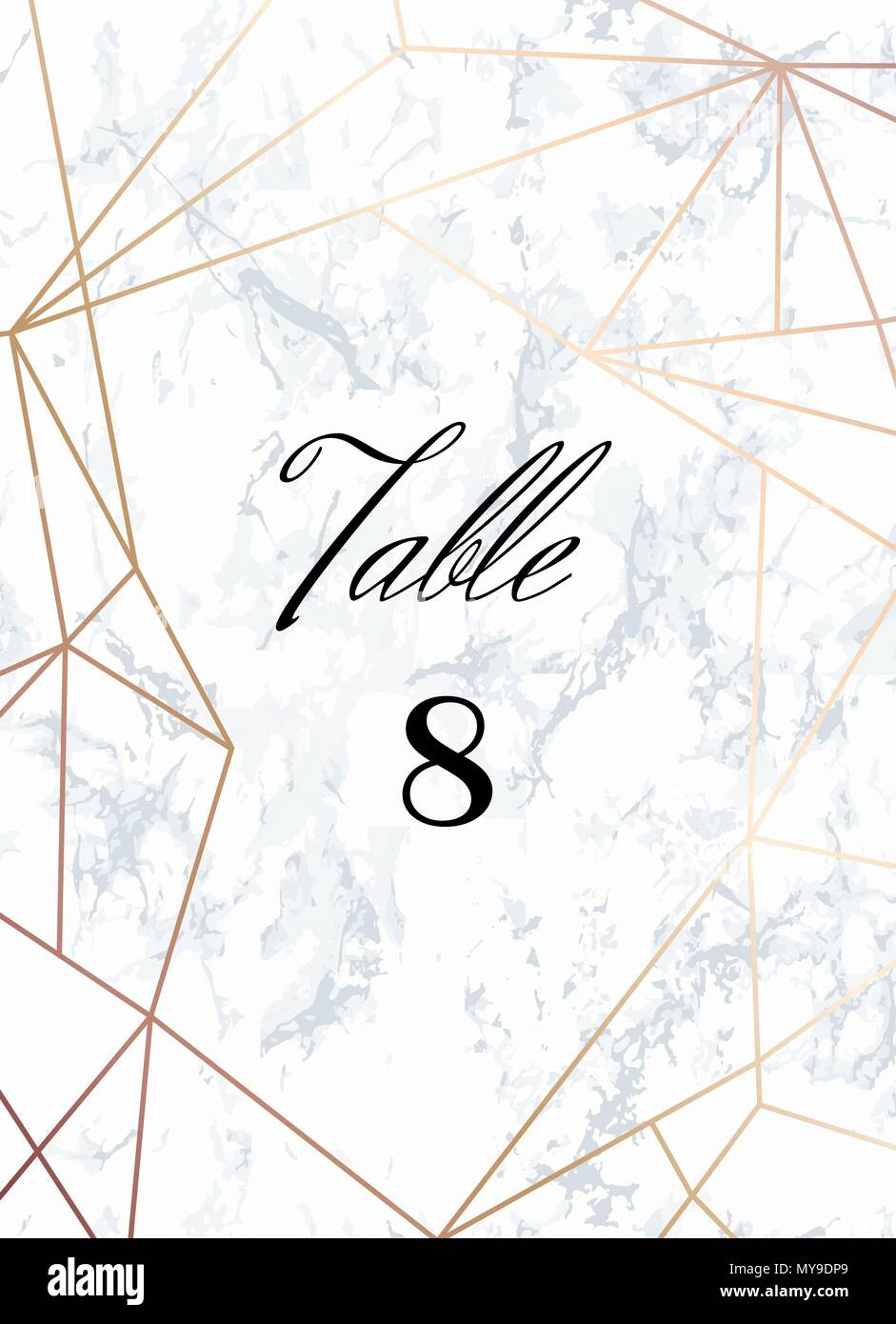 Wedding Template Tented Table Numbers Card Stock Vector Image