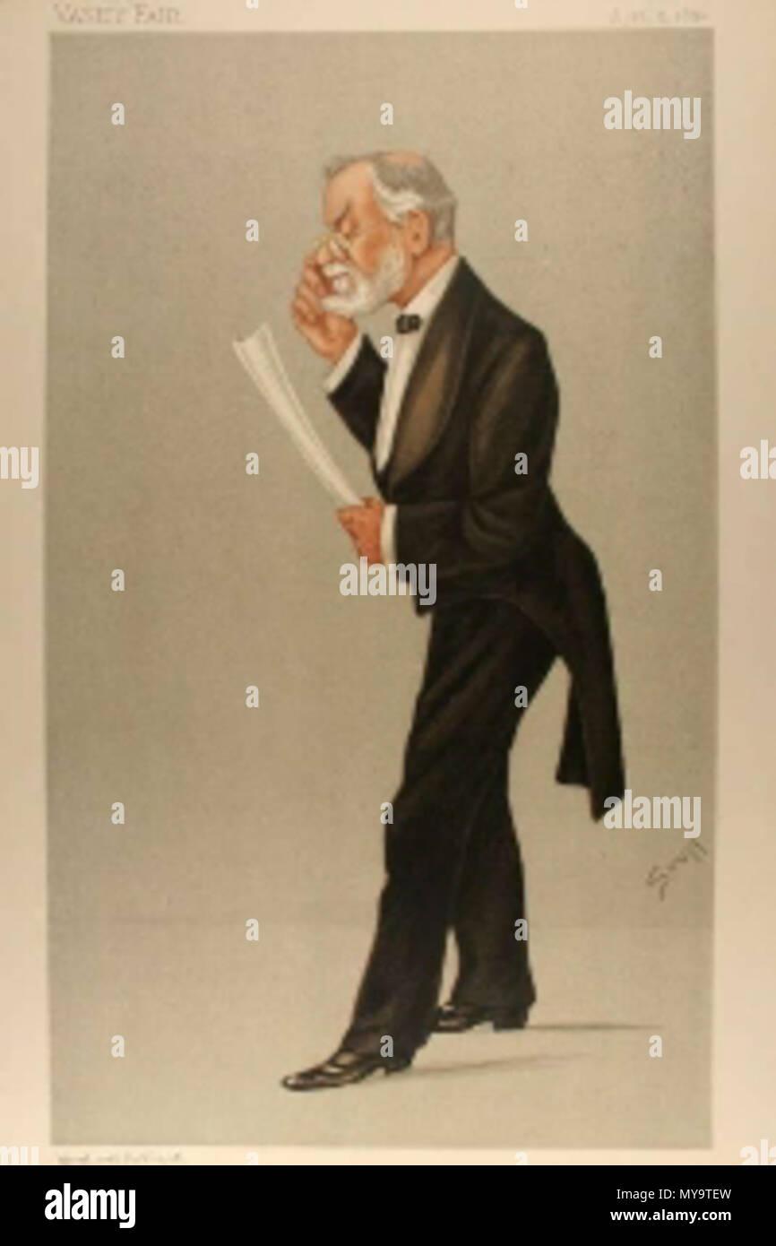 . Caricature of Mr Robert Brudenell Carter FRCS. Caption read 'a Literary Oculist'. 1892. 'Stuff' (Henry Charles Seppings-Wright) 100 Robert Brudenell Carter Vanity Fair 1892-04-09 Stock Photo