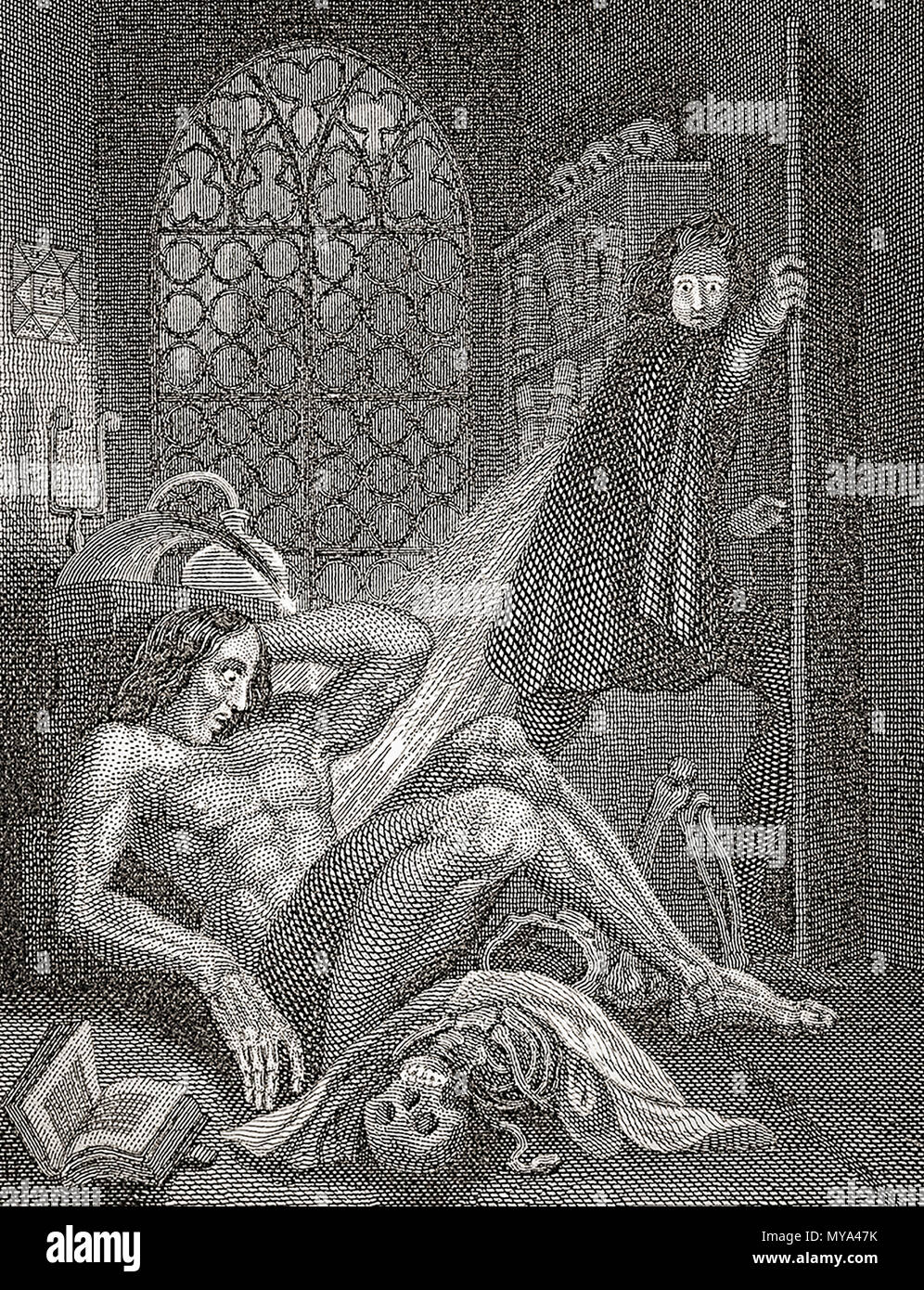 Victor Frankenstein And His Creature Frontispiece By Theodor Von Holst To The 1831 Edition Of