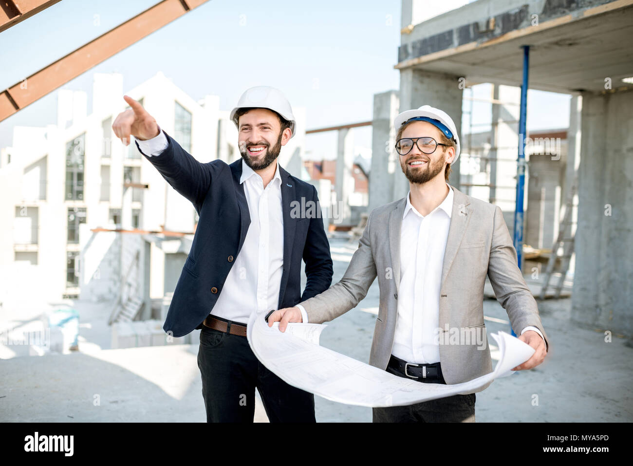 Business people on the structure - Stock Image