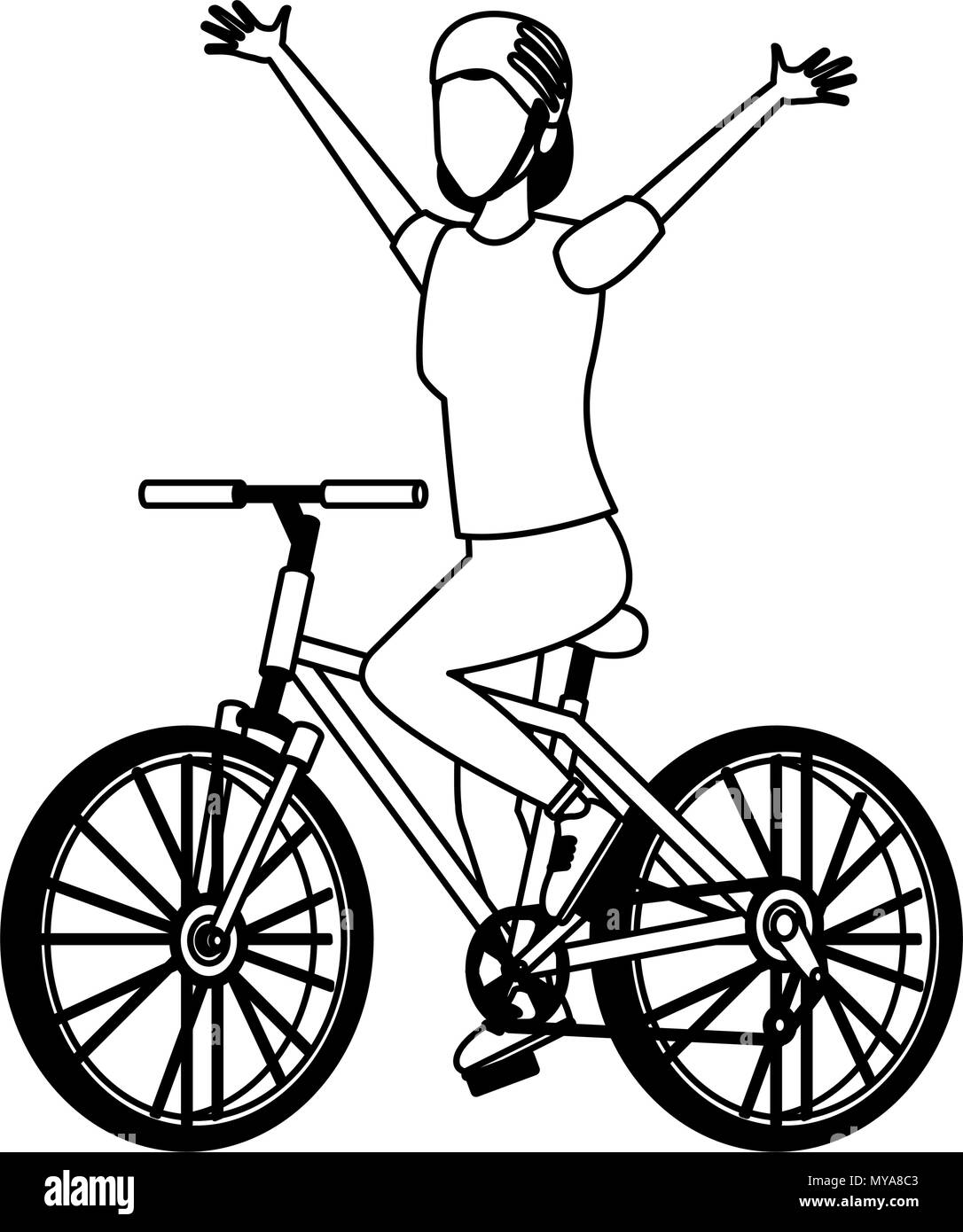 woman with bike black and white stock photos images alamy Jap Choppers woman with bicycle in black and white stock image
